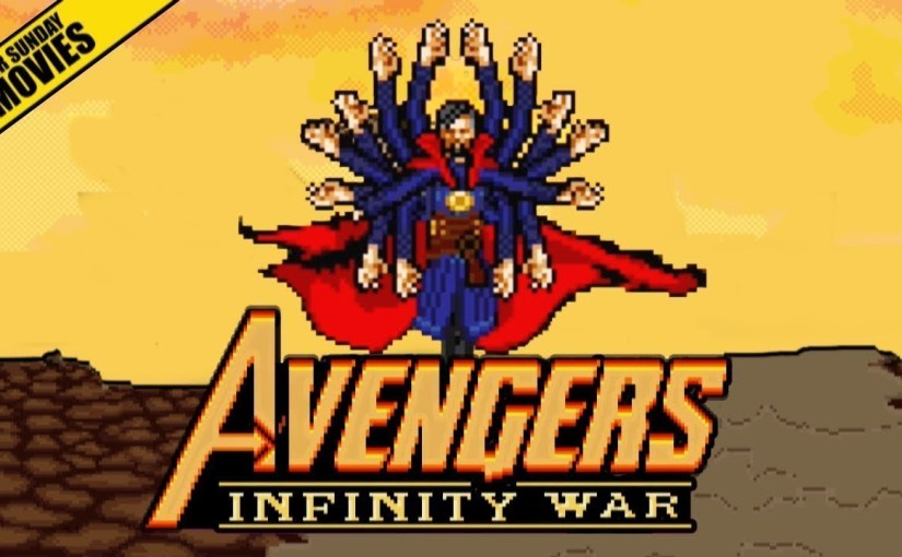 Avengers Vs. Thanos, escena recreada en 16bits