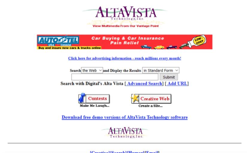 Visita el museo del diseño web y mira como eran las páginas web hace 20 años