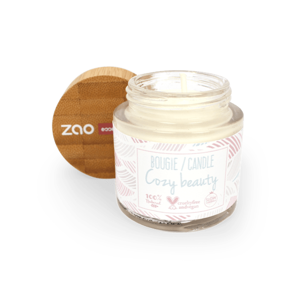 Bougie d'ambiance naturelle zao makeup