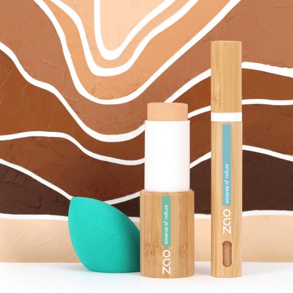 Teint Parfait Fond de teint stick Anticerne fluide Eponge blender - Zao Makeup