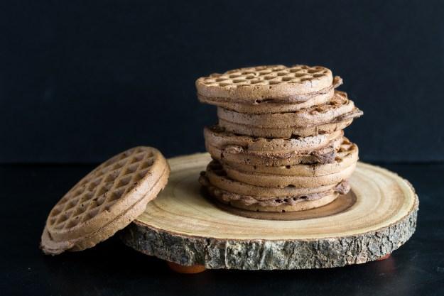 Vegan Oil-free, Sugar-free Red Velvet Waffles by An Unrefined Vegan