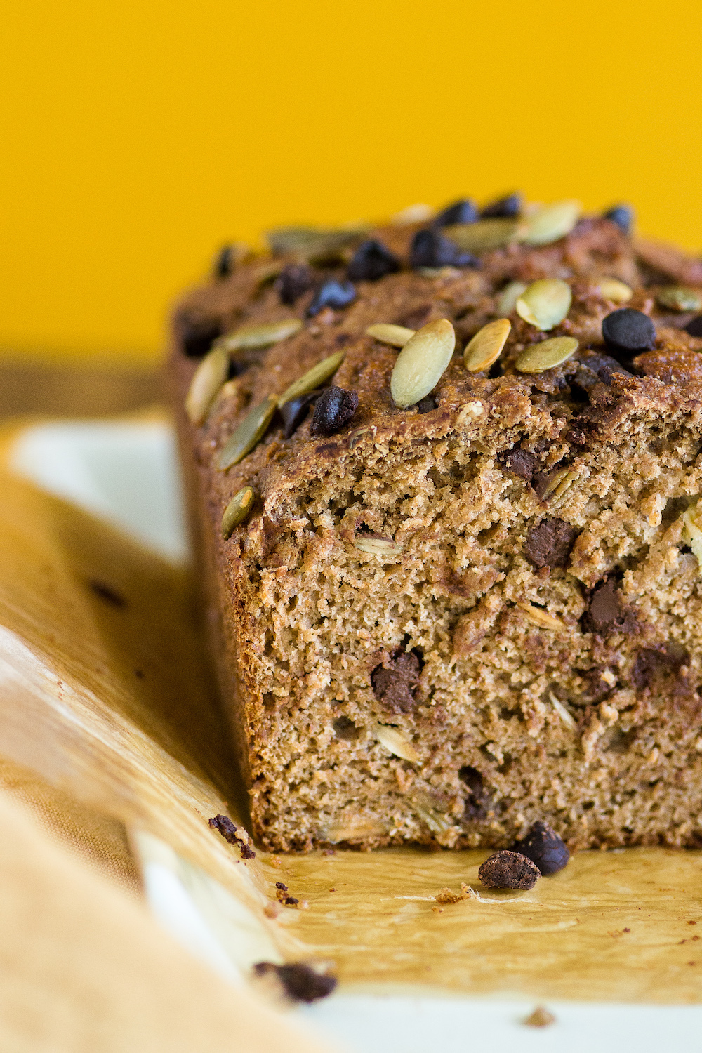 Oatmeal Stout Chocolate Chip Banana Bread. Oil-free.