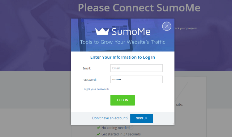SumoMe Review Setup