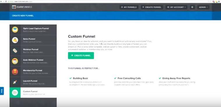 ClickFunnels User Interface