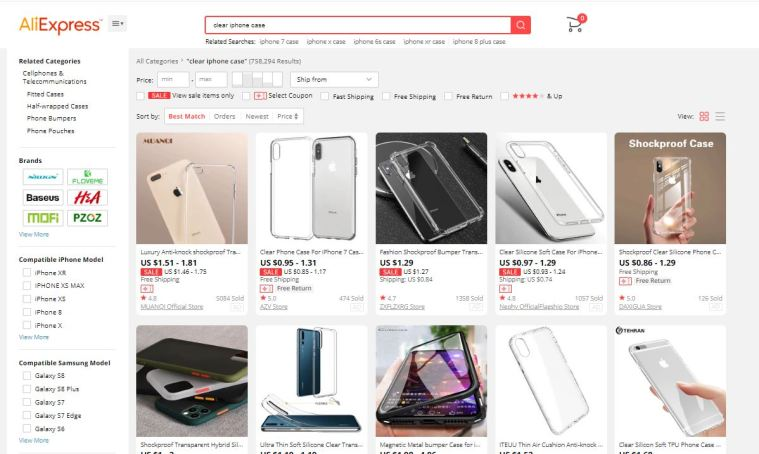 AliExpress Marketplace Platform iPhone Cases Supplier Drop Surf