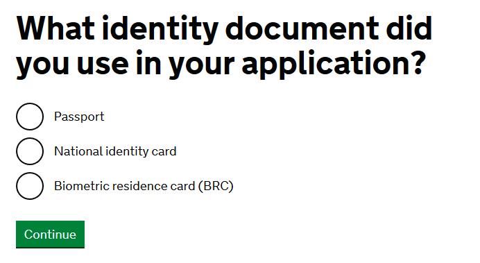 cum aplici pentru rezidenta in UK verifici statutul 2