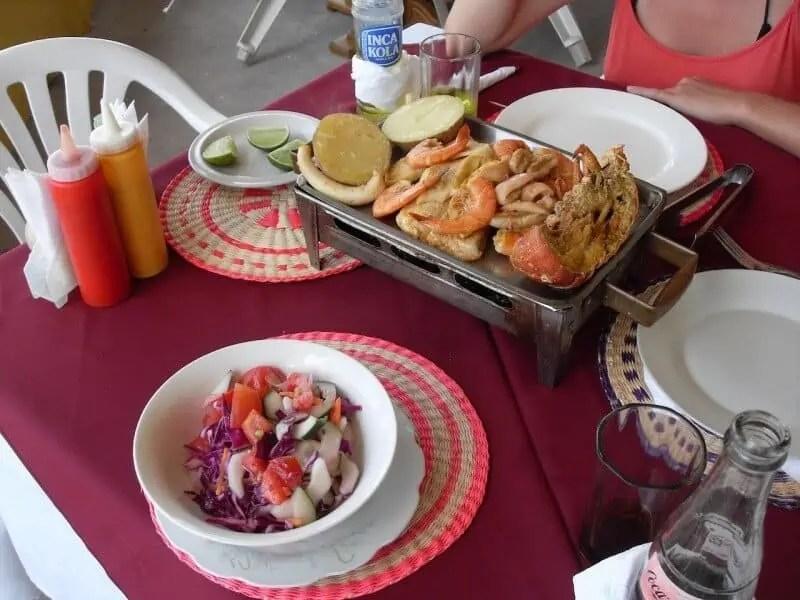 Parilla de fruits de mer, aux Galapagos
