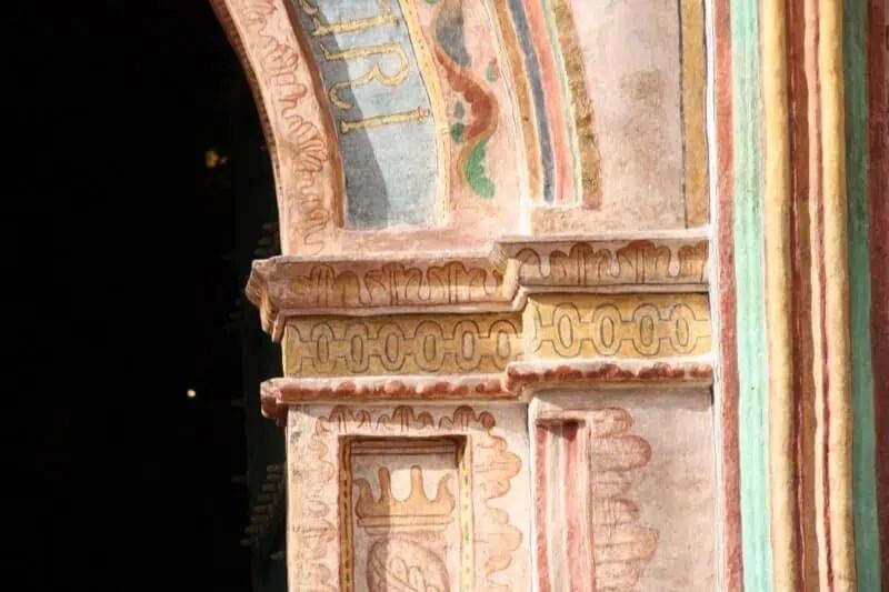 Détail de la porte de la chapelle d'Andahuayllas