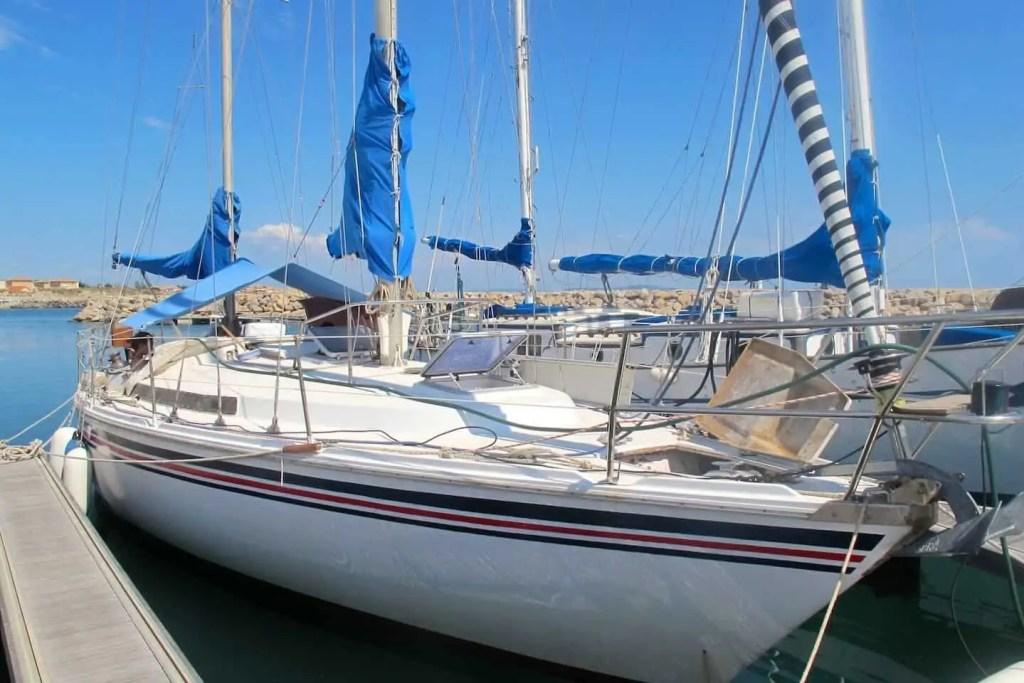 L'Océanide, à bord duquel nous avons navigué d'Ibiza à Marseillan Plage