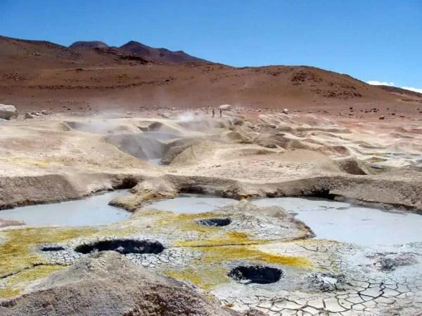 Geysers de boue Bolivie Andes Uyuni