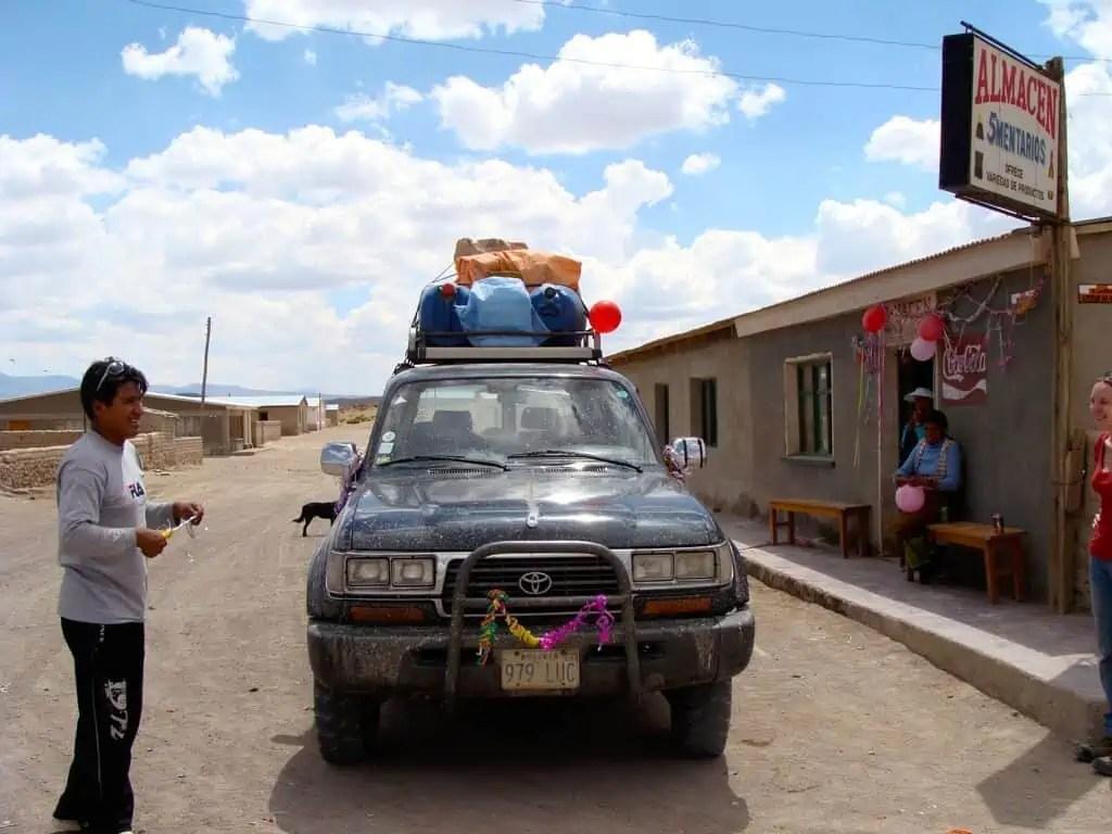 Voiture 4X4, salar d'Uyuni, Caranaval, Bolivie