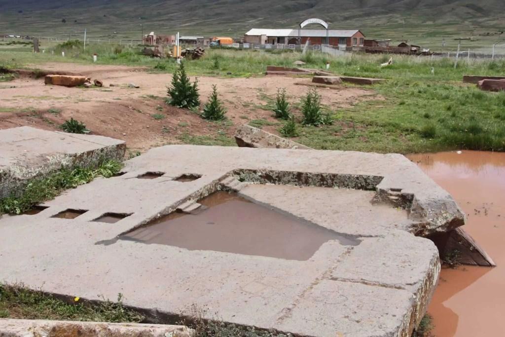 Maquette, construction, tiwanaku, Tihuanaco, Bolivie