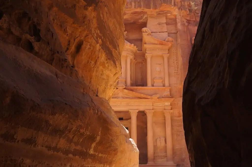 Jordanie, Pétra, Siq, canyon