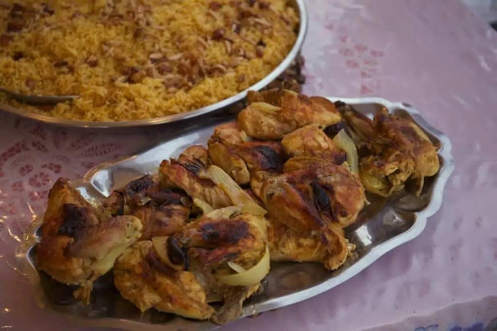 Poulet, Mandi, cuisine jordanie