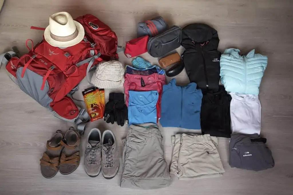 Matériel, voyage, équipement