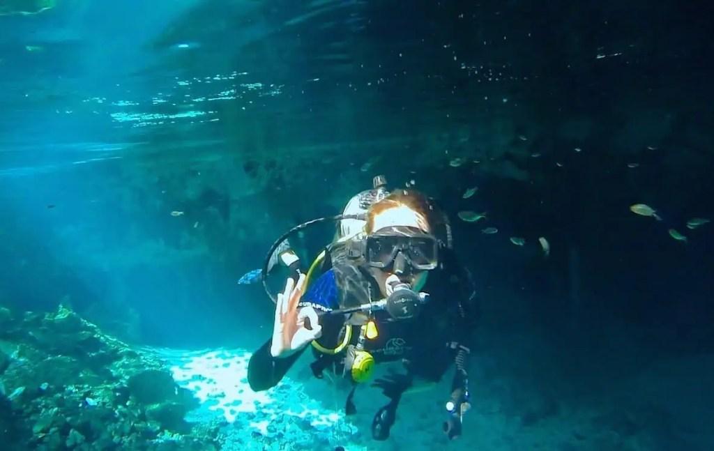 Cenote, Dos Ojos, plongée, Mexique