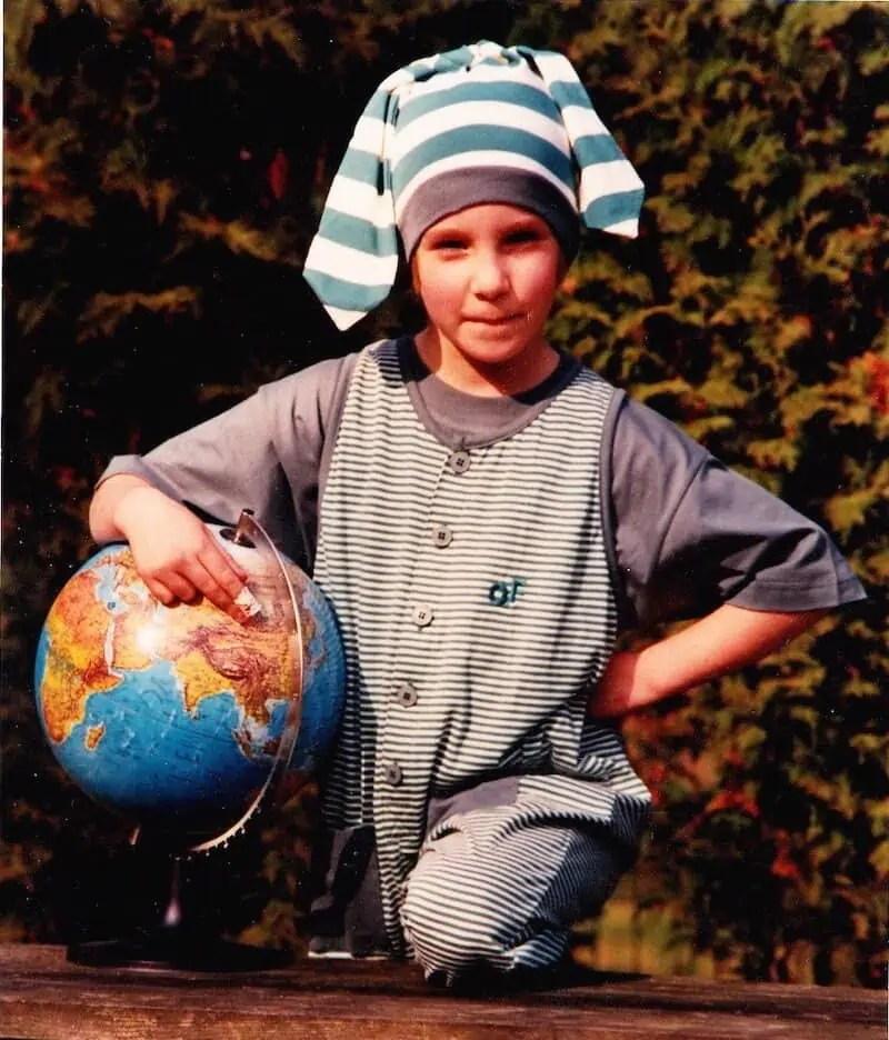 Voyage, enfant, monde, terre