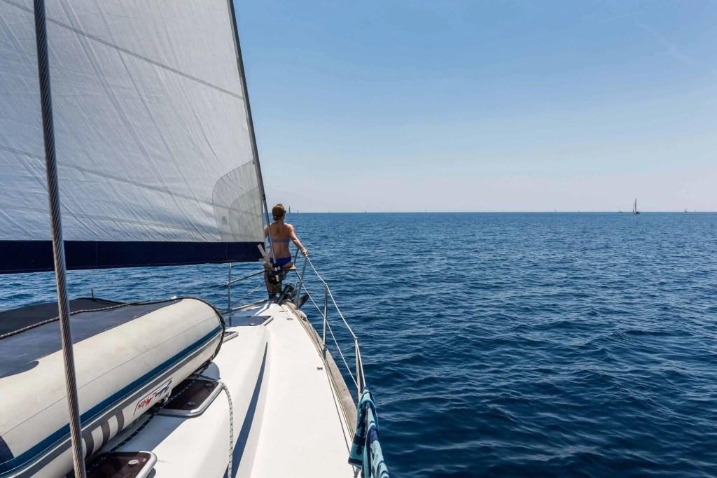 voile, voilier, bateau, Croatie, voyage