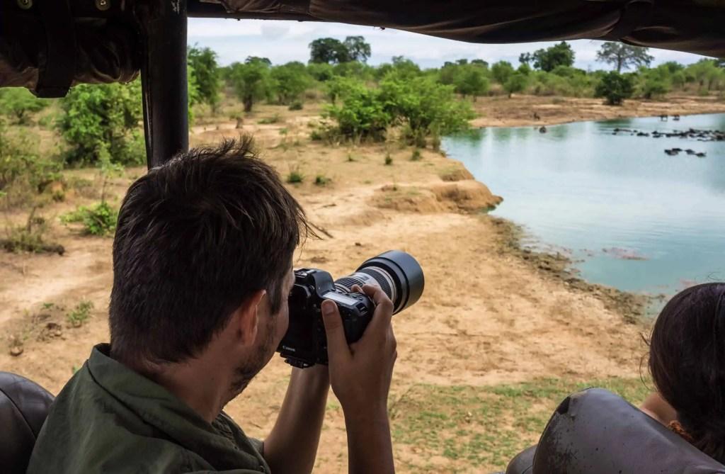 Utilisation de l'objectif 70-200 en safari