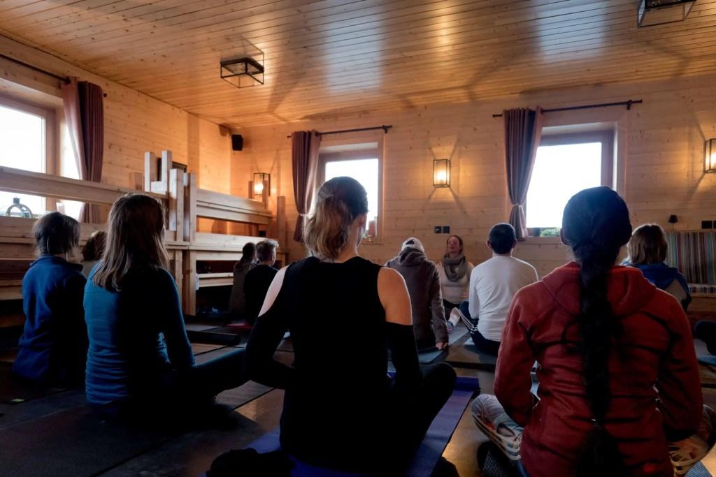 Alpes, Menuires, montagne, zen, ski, yoga, yogiski