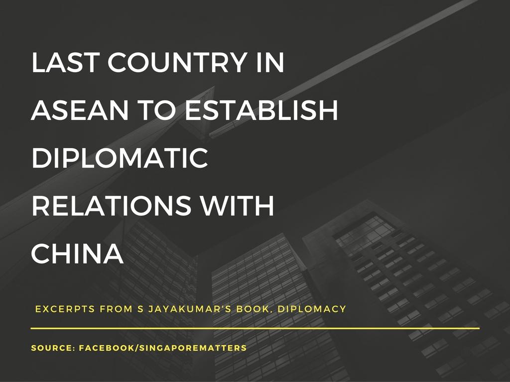 via S Jayakumar's book, Diplomacy: A Singapore Experience
