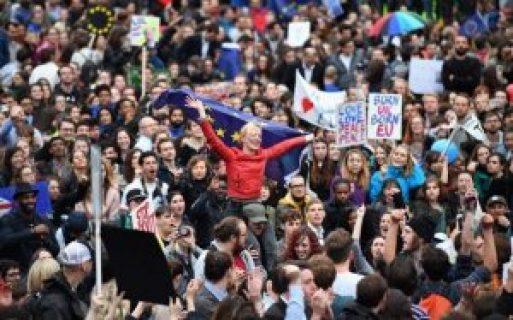 Protestors against Brexit.