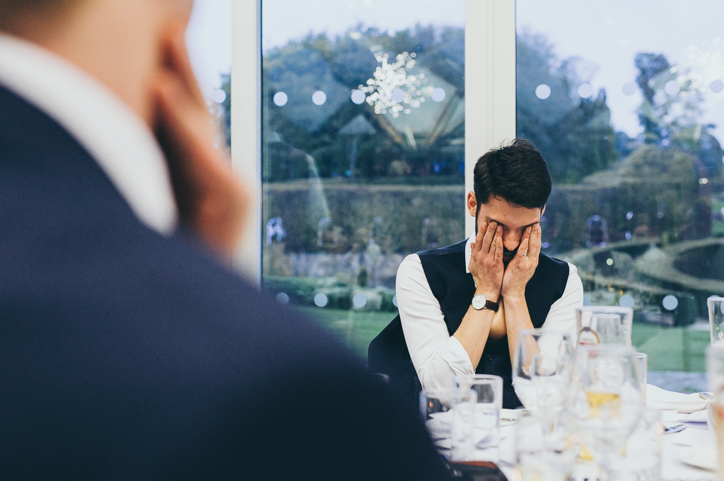 Wedding Photographer Newcastle Embarrassed Groom