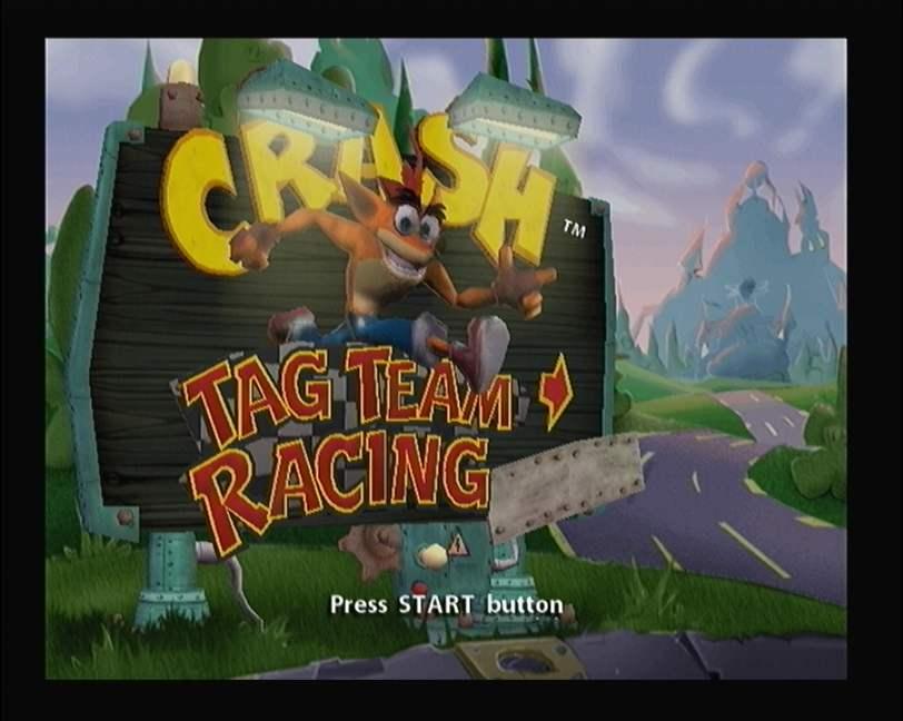 Crash Tag Team Racing Beta PS2 XBOX GameCube PSP