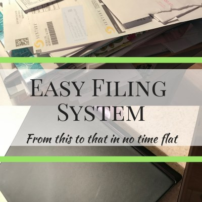 Easy Filing System without a Filing Cabinet