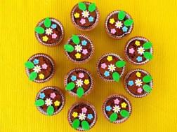 Brownies im Blumentopf