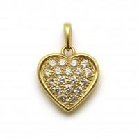 Pendentif coeur - Or et diamants