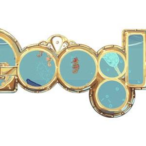 Doodle pour célébrer l'anniversaire de la naissance de Jules Verne