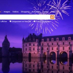 Page d'accueil de Bing en version finale en France