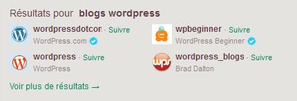 Twitter - Suggestion Blogs wordpress