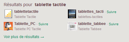 Twitter - Suggestions tablette tactile