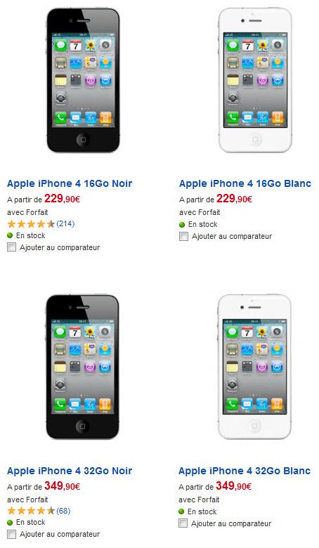 iPhone 4 blanc - SFR