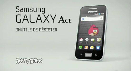 Samsung fait la pub du Galaxy Ace sur TF1