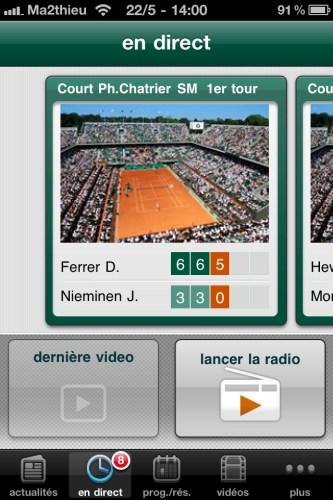 Roland Garros 2011 - Direct