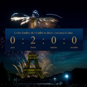 Le feu d'artifice du 14 juillet de Paris en direct