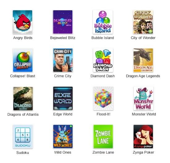 Les 16 jeux de Google+