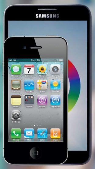 Comparaison Galaxy Note et iPhone 4
