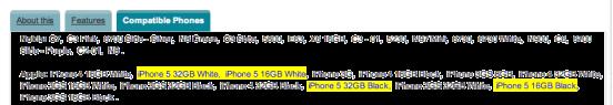 iPhone 5 : 16Go et 32Go - noir et blanc