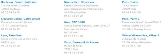Liste des Apple Store en France