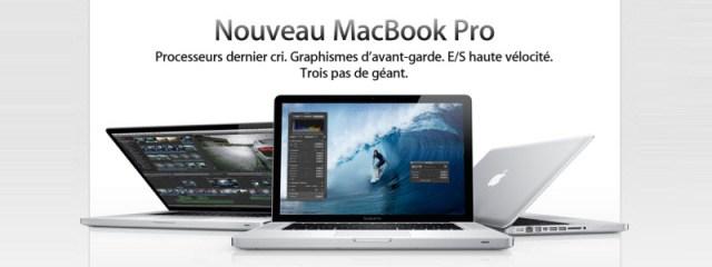Apple met à jour les MacBook Pro