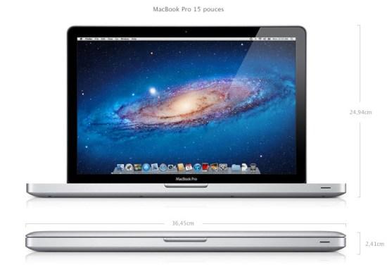 Apple met à jour les MacBook Pro - 15 pouces