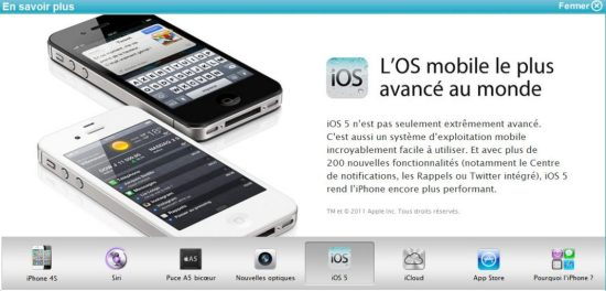 iphone 4S bouygues iOS 5