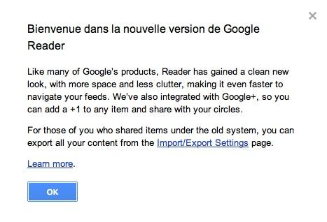 Google Reader  - une nouvelle version qui ne fait pas l'unanimité