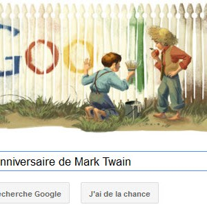 Google fête le 176ème anniversaire de Mark Twain