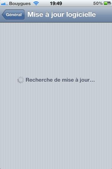 Mise à jour OTA iOS 5.0.1
