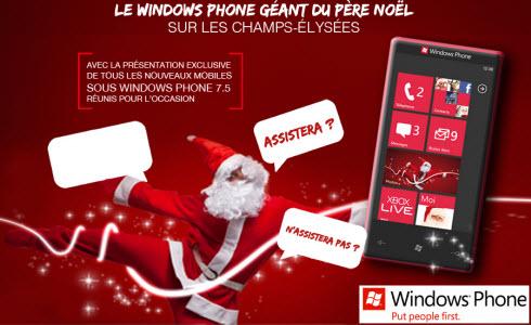 Le Windows Phone géant du Père Noël arrive sur les Champs Elysées!